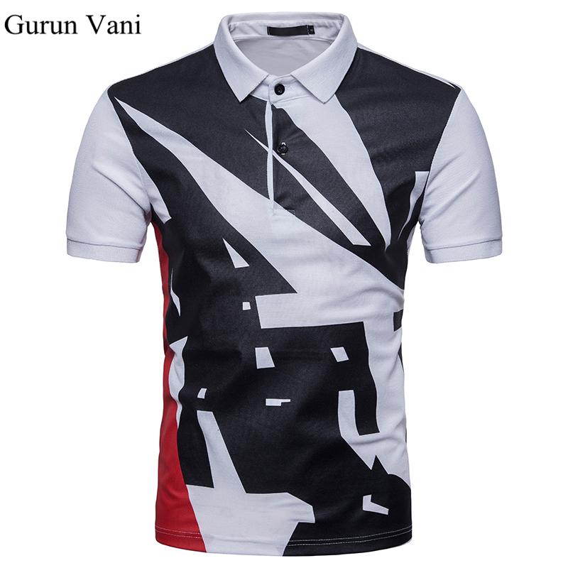[해외]유럽 ??크기 2018 망 기본 폴로 셔츠 기하학적 무늬 남자 짧은 Retail 남성 폴로 셔츠 통기성 폴로 셔츠 브랜드 의류/European Size 2018 Mens Basic Polo Shirt Geometric Pattern Men Short Sleeve