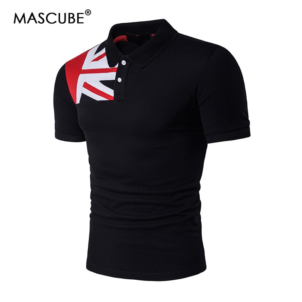 [해외]MASCUBE 캐주얼 폴로 셔츠 남성 브랜드 코튼 남성 & s 플래그 폴로 셔츠 반Retail 슬림 남성 폴로 셔츠 여름 남성 캐미솔 폴로 클래식/MASCUBE Casual Polo Shirt Men Brand Cotton Men&s Flag Polo S
