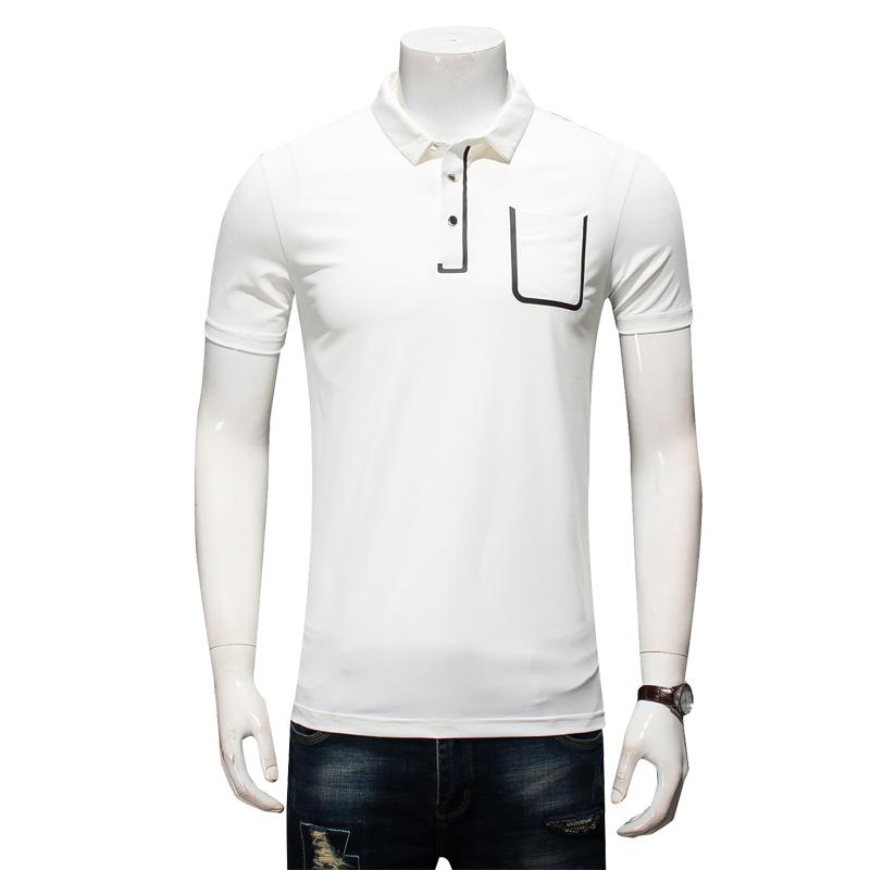 [해외]폴로 masculina camisa 8XL 6XL 남성 셔츠 2018 여름 남성 캐주얼 통기성 스트라이프 짧은 폴로 셔츠 면직물 작업복 폴로/Polo masculina camisa 8XL 6XL Men Shirt 2018 Summer Men Casual Brea