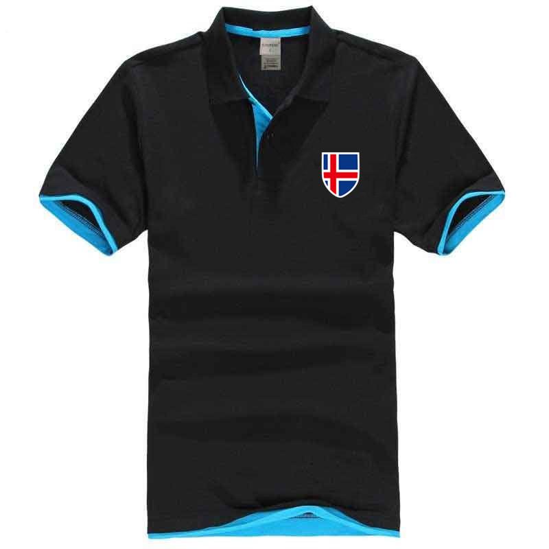 [해외]새 브랜드 Polos Mens Printed POLO Shirts 코튼 반Retail Camisas 아이슬란드 플래그 프린트 인기 폴로 캐주얼 남성 폴로 셔츠 3XL/New Brand Polos Mens Printed POLO Shirts Cotton Short