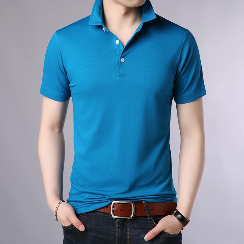 [해외]하이 엔드 남성 & 반팔 티셔츠 순수 면화 mercerized 면화 패션 새로운 폴로 셔츠 비즈니스 캐주얼 공기 침투성 폴로 셔츠/High-end Men&s short-sleeved polo pure cotton mercerized cotton fashi