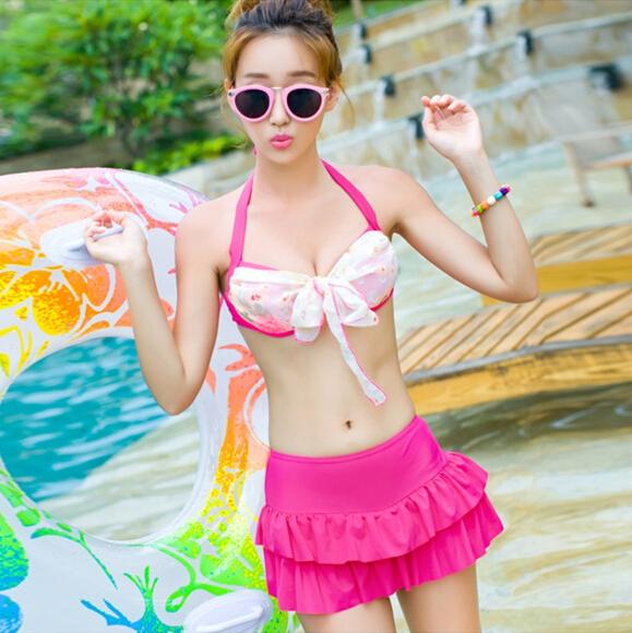 [해외]저렴한 2015 핫 여성 여름 여성 수영복 스커트 바지 쓰리 피스 비키니 수영복 스틸 작은 가슴의 여성을 수집 법안 분할/Cheap 2015 Hot Women summer female swimsuit skirt pants split three-piece biki