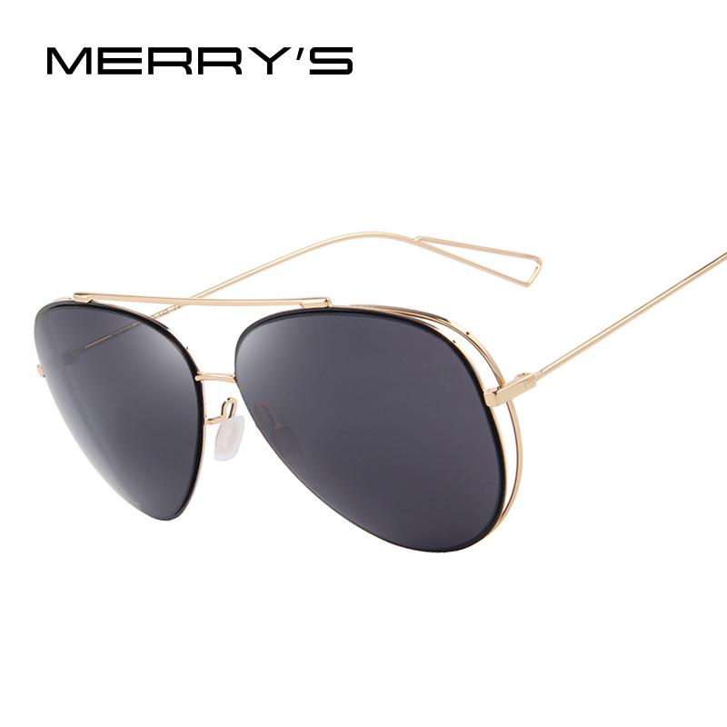 [해외]MERRY & S 패션 여성 선글라스 클래식 브랜드 디자이너 트윈 빔 코팅 거울 평면 렌즈 여름 선글라스 S & 8,582/MERRY&S Fashion Women Sunglasses Classic Brand Designer Twin-Beams Co