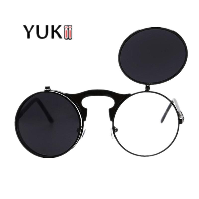[해외]YUKII 빈티지 스팀 펑크 선글라스 금속 프레임 선글라스 여성 코팅 태양 안경 남성 여성 레트로 라운드 안경 스팀 펑크/YUKII Vintage Steampunk Sunglasses  Metal Frame Sunglasses Women Coating Sun G