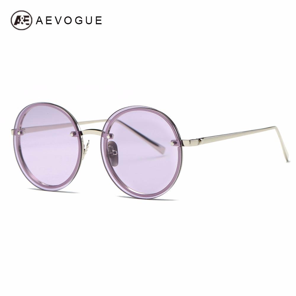 [해외]AEVOGUE 선글라스 여성 브랜드 디자이너 Round Rimless Metal Temple 특대의 빈티지 슈퍼 스타 Sun GlassesBox AE0497/AEVOGUE Sunglasses Women Brand Designer Round Rimless Meta