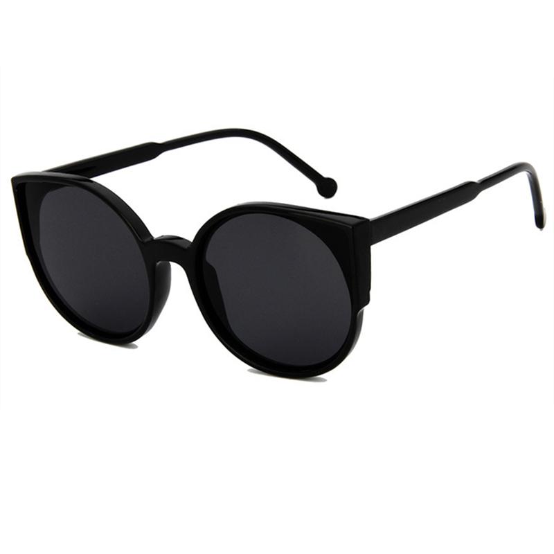 [해외]?빈티지 라운드 고양이 눈 선글라스 여성 브랜드 안경 레트로 여성 코팅 거울 태양 안경 운전 고글/ Vintage Round Cat Eye Sunglasses Women Brand Eyeglasses Retro Female Coating Mirror Sun Gl