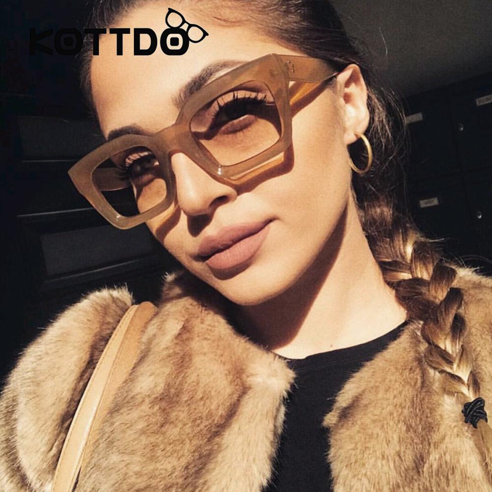 [해외]새로운 작은 사각형 선글라스 여성 럭셔리 브랜드 디자이너 프레임 투명 그라디언트 태양 안경 Oculos 드 솔 Feminino UV400/New Small Square Sunglasses Women Luxury Brand Designer Frame Transpa