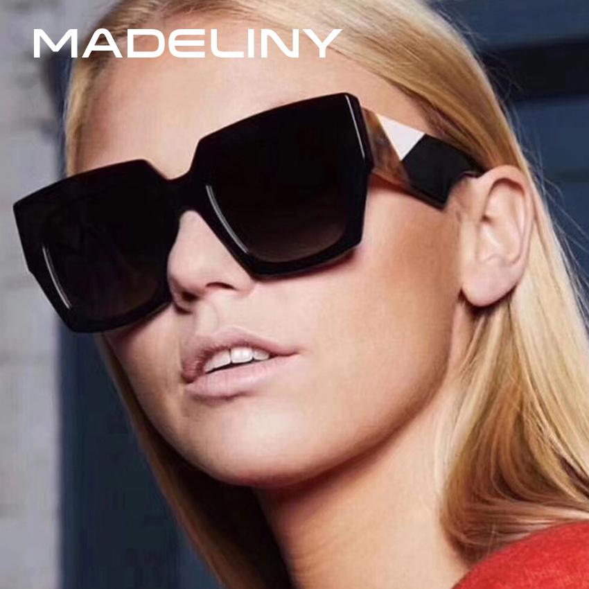 [해외]마 델리 새로운 패션 여성 광장 선글라스 브랜드 디자인 클래식 빈티지 2018 성격 태양 안경 쉐이프 UV400 MA090/MADELINY New Fashion Women Square Sunglasses Brand Design Classic Vintage 201
