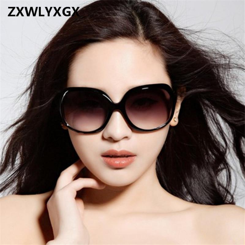 [해외]2018 New Mirror 고글 방폭형 렌즈 대형 프레임 여성 선글라스 여성 브랜드 빈티지 Sun Glasses 여성용 oculos de sol/2018 New Mirror Goggle Explosion-proof Lens Large Frame Female S
