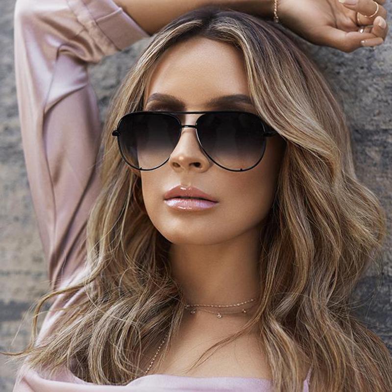 [해외]?로즈 골드 핑크 선글라스 미러 태양 안경 브랜드 디자이너 비행가 선 글래스 여성 남성 그늘 플랫 탑 패션 안경/ Rose gold pink sunglasses mirror metal sun glasses brand designer aviator sunglass