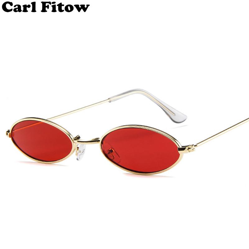 [해외]2018 새로운 브랜드 디자이너 빈티지 타원형 색안경 여자 / 남자 레트로 렌즈 안경 태양 안경 여성 UV400에 대 한/2018 New Brand Designer Vintage Oval Sunglasses Women/Men Retro Clear Lens Eye