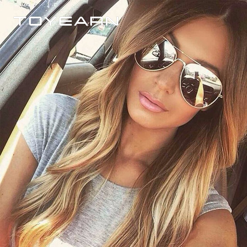[해외]TOYEARN 빈티지 클래식 브랜드 디자이너 Men & s Pilot 선글라스 Women 's UV400 거울 Sun Glasses 여성 UV400 Oculos de sol/TOYEARN Vintage Classic Brand Designer Me