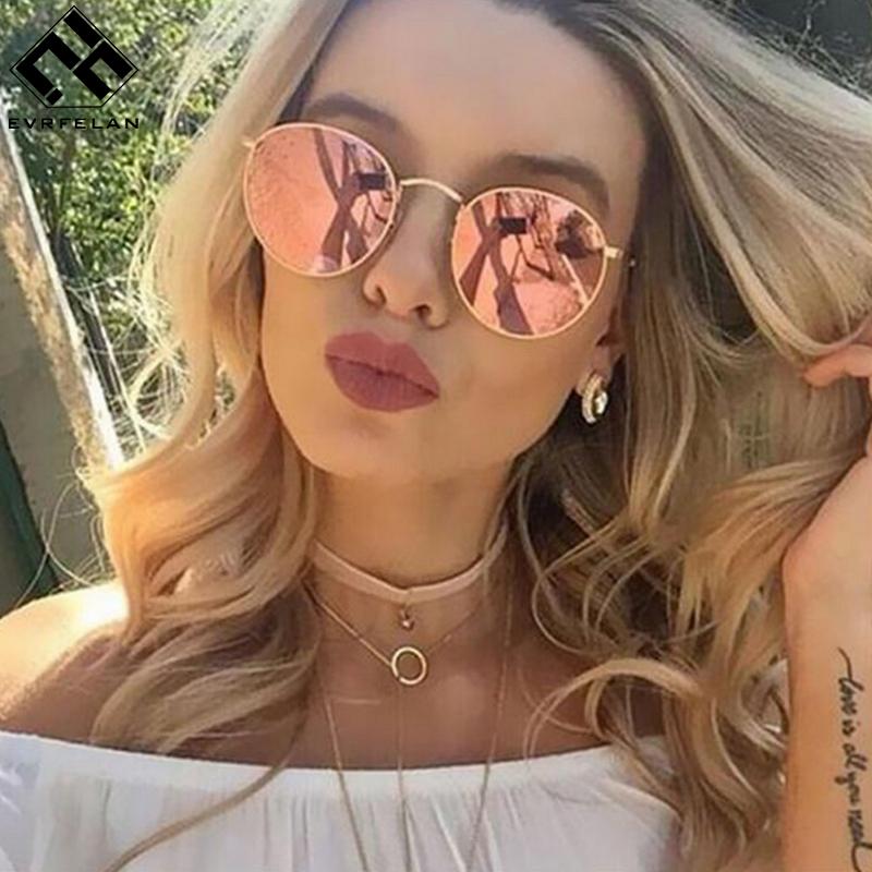 [해외]Evrfelan 패션 다채로운 라운드 선글라스 여성 럭셔리 금속 선글라스 소녀 여름 야외 UV400 안경 여성 Oculos 드 솔/Evrfelan Fashion Colorful Round Sunglasses Women Luxury Metal Sunglasses