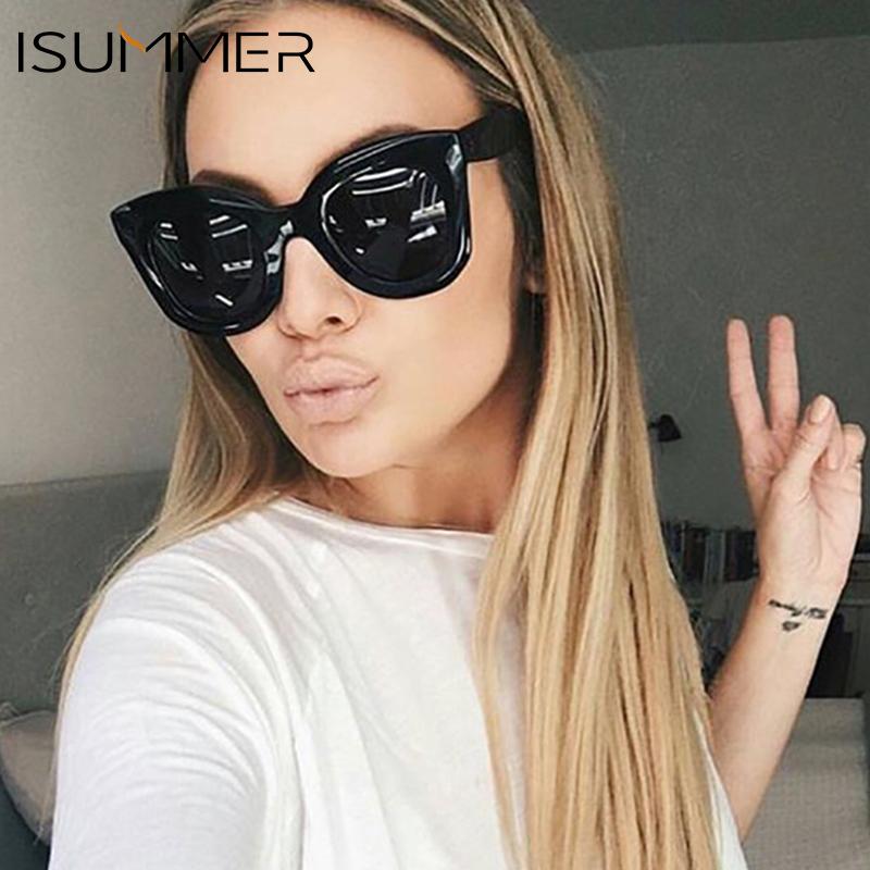 [해외]ISummer 새 여자 고양이 눈 선글라스 빈티지 고양이 눈 태양 안경 2018 브랜드 디자이너 선글라스 여성 oculos de sol UV400/ISummer New Women Cat Eye Sunglasses Vintage Cat eye Sun Glasses