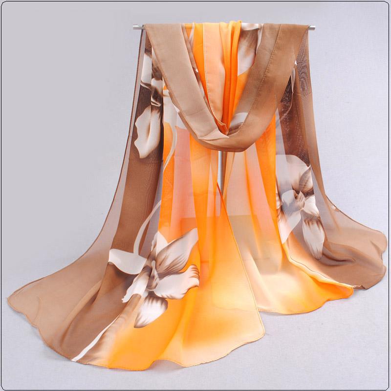 [해외]2017 여자의 패션 실크 스카프 스카프 Hijab 승진 인쇄 꽃 Shawls 여자의 쉬폰 실크 스카프 풀라 우드/2017 Womens Fashion Silk Scarf Scarves Hijab  Promotion Print Flower Shawls Women&