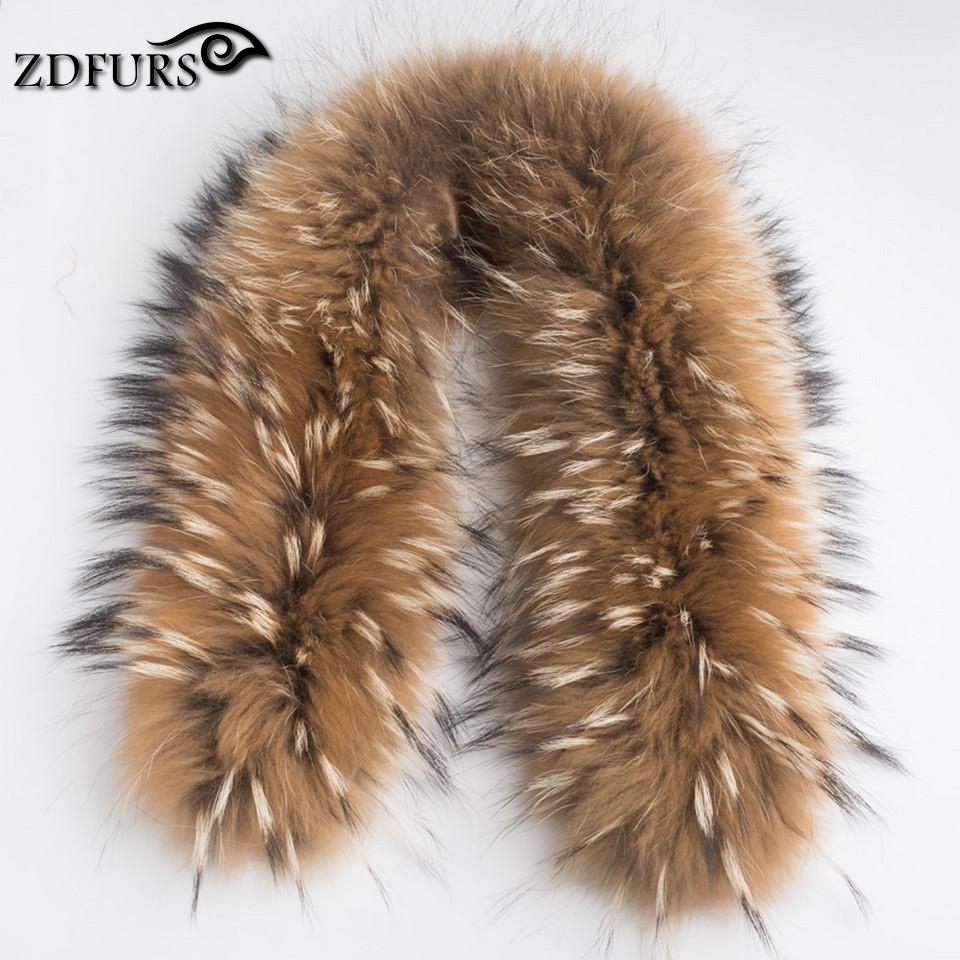[해외]ZDFURS * 럭셔리 진짜 너구리 모피 스카프 여성 100 % 천연 너구리 모피 칼라 겨울 따뜻한 모피 칼라 스카프 70 * 16cm ZDC-163001/ZDFURS * Luxury Real Raccoon Fur Scarf Women 100% Natural R
