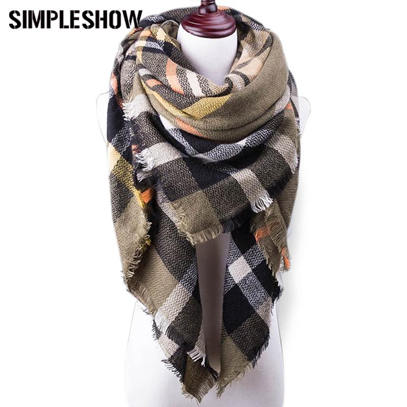 [해외]2017 새로운 겨울 스카프 여성 격자 무늬 담요 스카프 럭셔리 목도리 따뜻한 스카프 여성 Pashmina 스카프 부드러운 여성 비치 타월/2017 New Winter Scarf For Women Plaid Blanket Scarf Luxury Shawl War