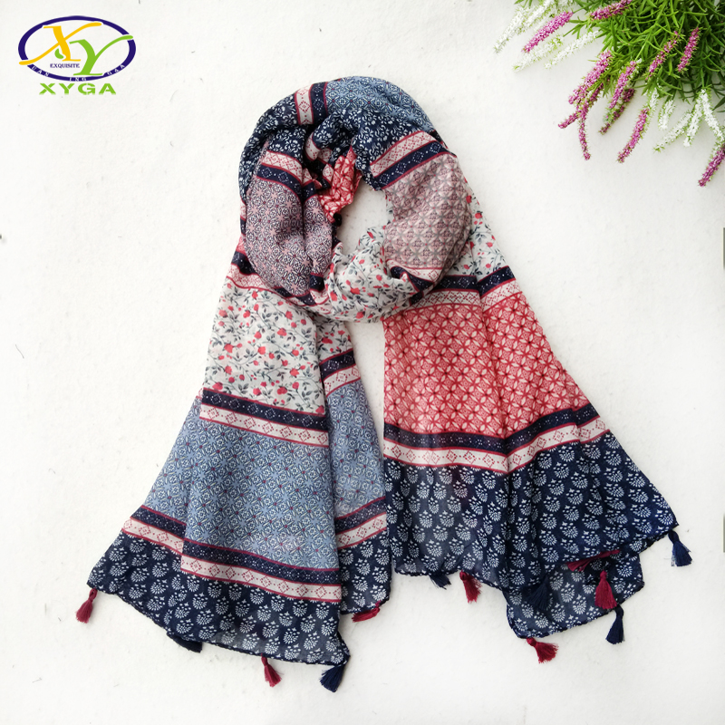[해외]1PC 2017Spring 새로운 디자인 아크릴 코튼 패션 여성 긴 Tassels 스카프 여자 새로운 꽃 Viscose Tassels Shawls Pashminas/1PC 2017Spring New Design Acrylic Cotton Fashion Women