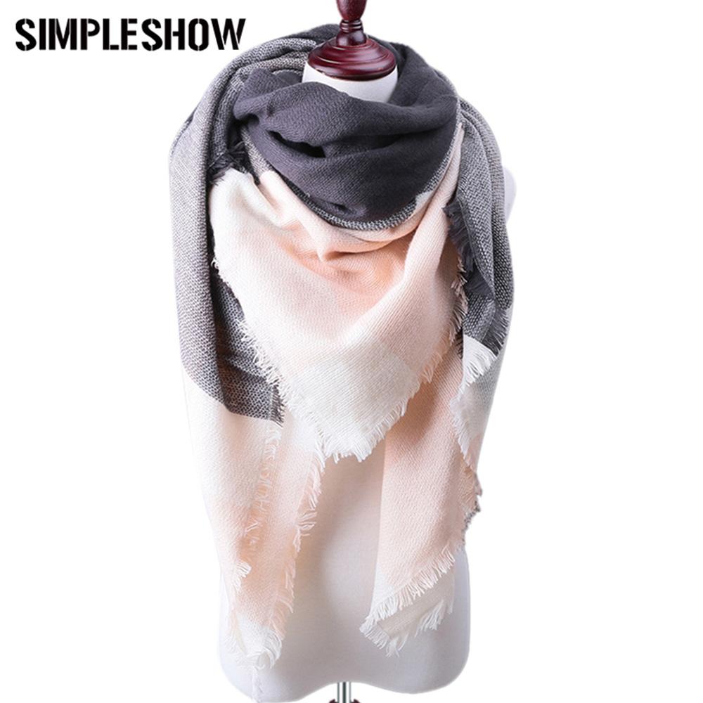 [해외]?여성을패션 브랜드 겨울 스카프 2017 새로운 디자이너 기본 Shawls 스카프 여성 스카프 따뜻한 캐시미어 스카프 가을 겨울/ Fashion Brand Winter Scarf For Women 2017 New Designer Basic Shawls Scarf