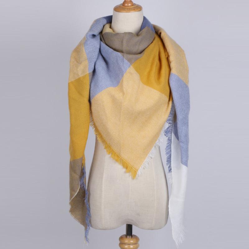 [해외]2017 패션 브랜드 디자이너 삼각형 스카프 여성 캐시미어 핑크 목도리 케이프 담요 격자 무늬 풀라 우드/2017 Fashion Brand Designer Triangle Scarf Women Cashmere Pink Shawl Cape Blanket Plaid