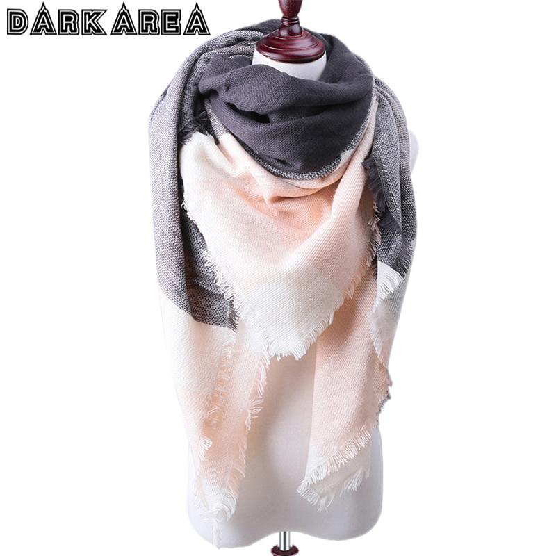 [해외]?새로운 패션 겨울 격자 무늬 스카프 여성 따뜻한 스카프 Shawls 숙녀 기본 스카프 Pashmina Luxury Brand Large Echarpe ping/ New Fashion Winter Plaid Scarf Women Warm Scarf Shawls