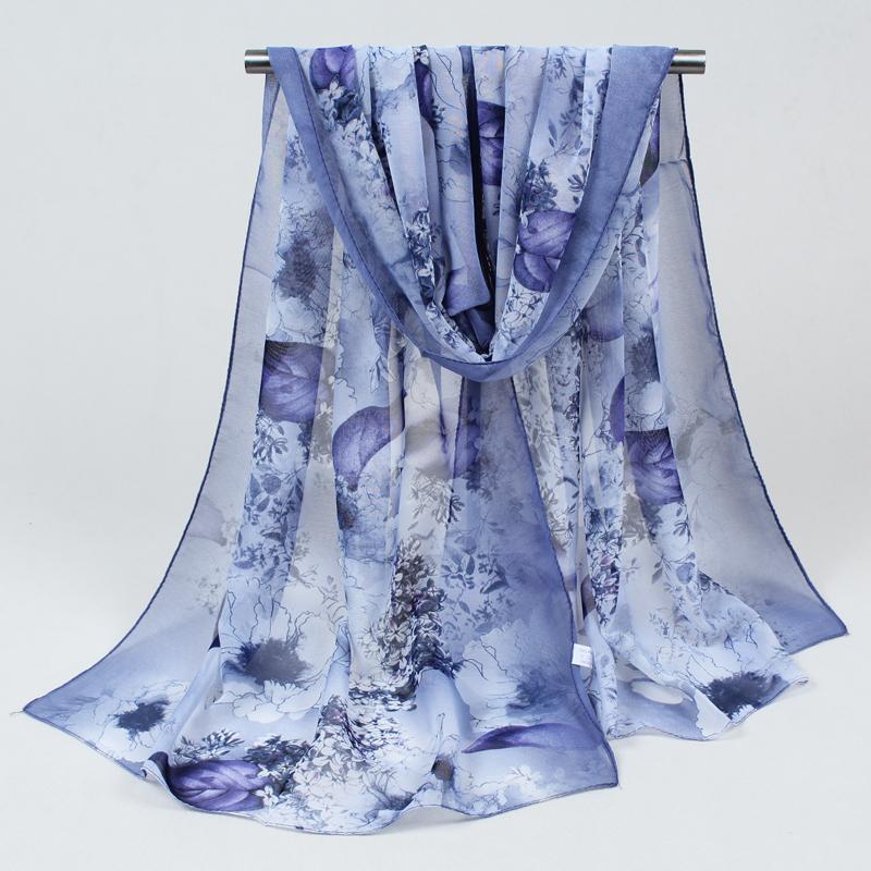 [해외]2017 새로운 여성 쉬폰 실크 스카프 패션 봄 스퀘어 폴 리 에스테 르 스카프 인쇄 꽃 목도리 여름 Shawls 및 Hijabs 052/2017 New Women Chiffon Silk Scarfs Fashion Spring Square polyester Sc