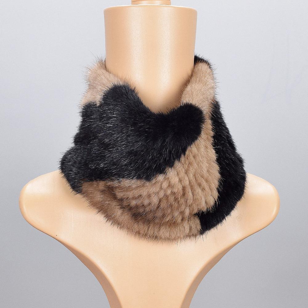 [해외]2017 여성용 스카프 러시아 겨울 천연 모피 100 %  밍크 모피 니트 여성 따뜻한 겨울 모피 스카프 감싸기 모피 밍크/2017 Scarves for women Russian winter natural fur 100% Genuine Mink Fur Knitt