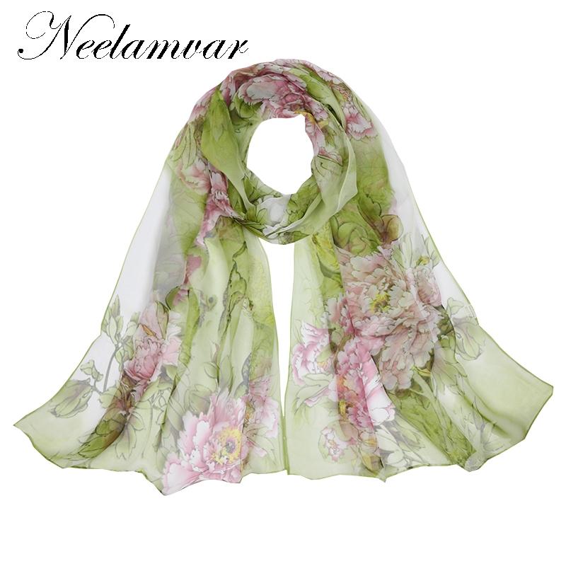 [해외]Neelamvar 패션 브랜드 2017 스카프 얇은 쉬폰 폴리 에스테르 실크 스카프 봄, 가을 액세서리 여성 & s의 shawls 설계/Neelamvar fashion Brand Designed 2017 scarf thin chiffon polyester