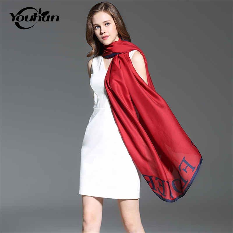 [해외]YOUHAN 2017 새로운 패션 실크 여성 스카프 가을 겨울 여성 숙녀 스카프 여행 해변 Pashmina 목도리/YOUHAN 2017 New Fashion Silk Women Scarf Autumn Winter Female Ladies Scarves Trave