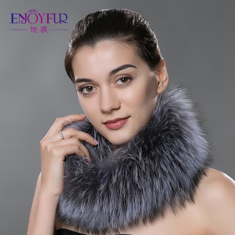 [해외]겨울 자연 실버 폭스 모피 스카프 따뜻한 칼라에 대한 여성 스카프 새로운 패션 모피 목도리 여성 겨울 모피 반지/Women scarves for winter natural silver fox fur scarf warm collar brand new fashion