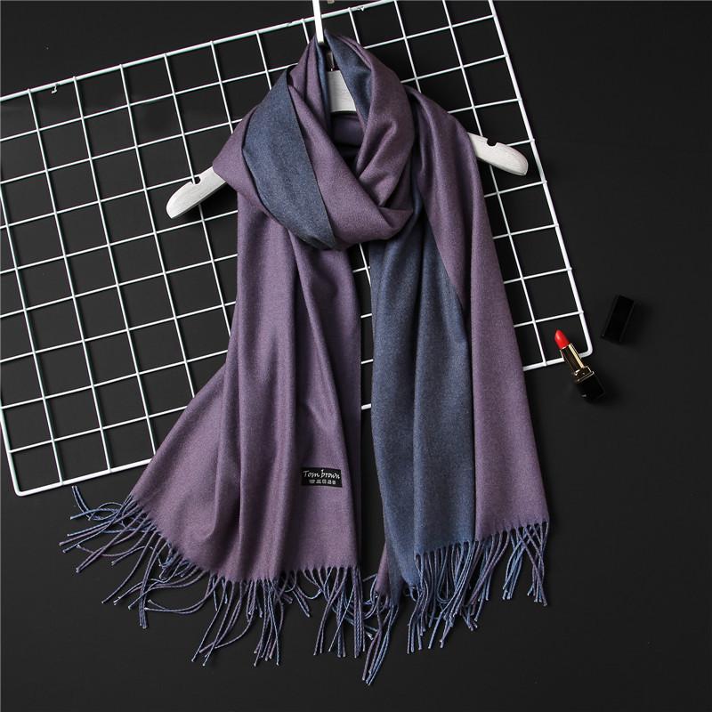 [해외]2017 새로운 겨울 여성 스카프 패션 고체 양면 부드러운 캐시미어 스카프 shawls 및 랩 bandana 여성 풀라 즈 술/2017 new winter women scarf fashion solid double-side soft cashmere scarves