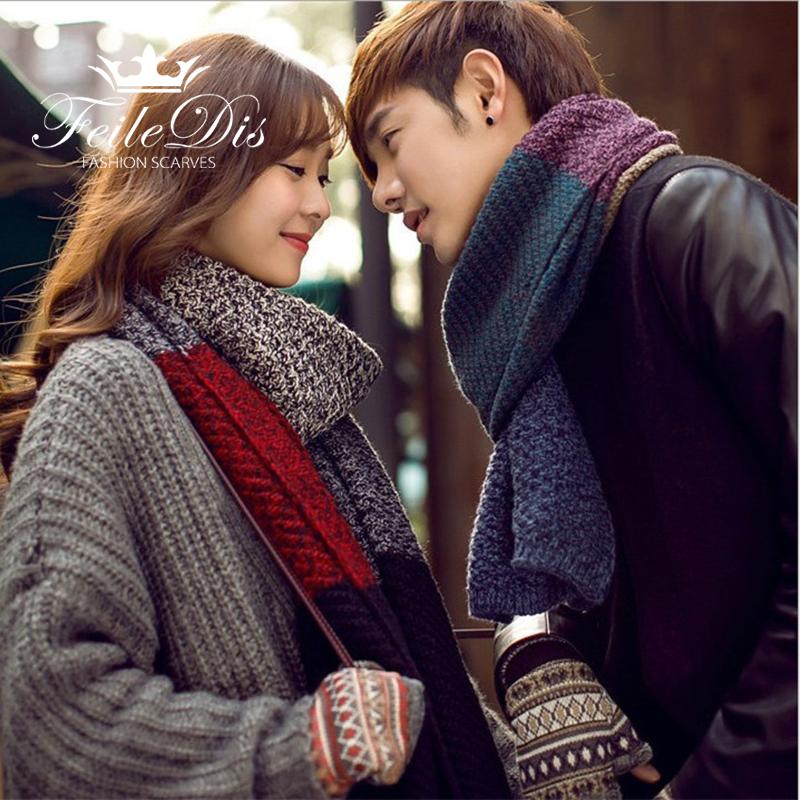 [해외][FEILEDIS] 가을과 겨울 스카프 싸우는 컬러 양모 스카프 따뜻한 캐시미어 스카프 FD078을 두껍게/[FEILEDIS]Couple autumn and winter scarf fight color wool scarf thicken warm cashmere