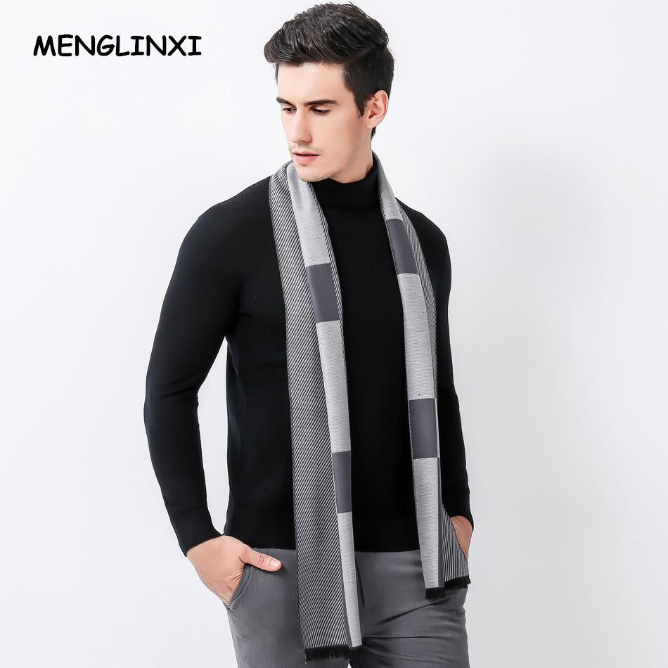 [해외]MENGLINXI 2017 새로운 디자인 브랜드 스카프 남자 따뜻한 럭셔리 스카프 남자 패션 격자 무늬 캐시미어 스카프 남성 Bussiness 캐주얼 스카프/MENGLINXI 2017 New Design Brand Scarf Men Warm Luxury Scar