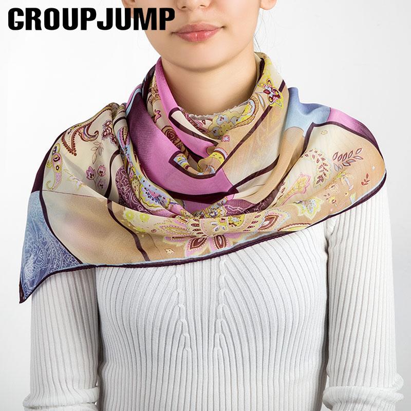 [해외]브랜드 디자인 스퀘어 스카프 여성 꽃 패턴 민족 스타일 스카프 여성 숄 겨울 스카프 숙녀 숄 & 스카프 130 * 130CM/Brand Design Square Scarf Women Flower Pattern Ethnic Style Scarves Fema