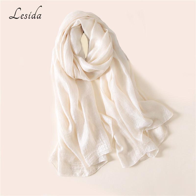 [해외]LESIDA 실크 스카프 여성 긴 목도리와 Echarpes 풀라 드 Femme Hijab 솔리드 스카프 스타일 Bufandas Mujer 190 * 100CM 3033/LESIDA Silk Scarf Women Long Shawl And Wraps Echarpe