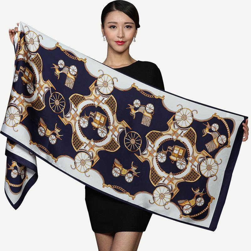 [해외]100 실크 스카프 여성 스카프 실크 숄 여성 여성 스카프 여성 2017 실크 Pashmina/100 Silk Scarf Women Scarf Silk Shawl Female Designer Scarf Women Luxury 2017 Silk Pashmina