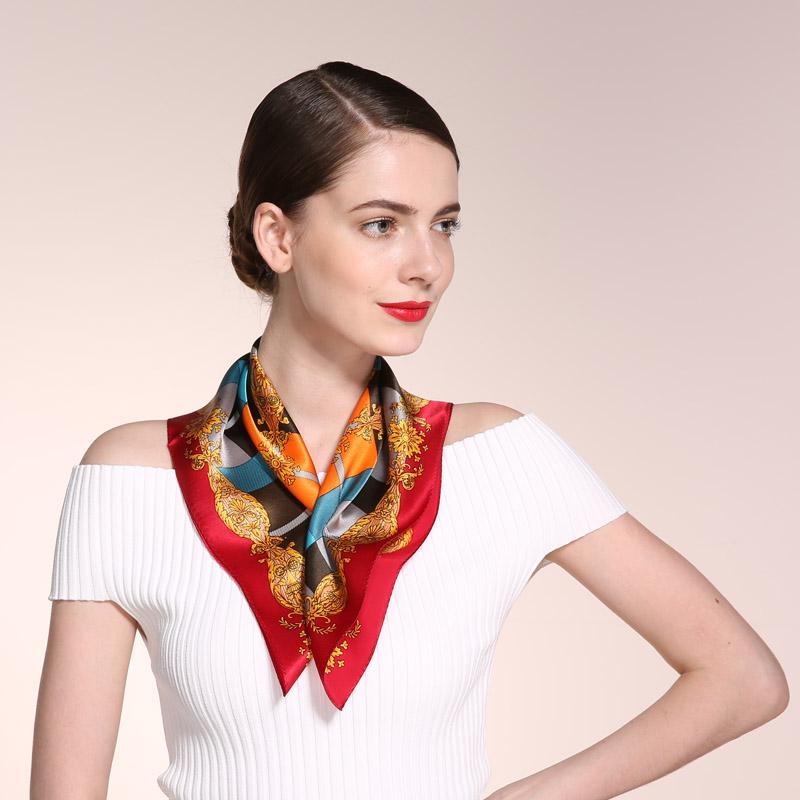 [해외]100 % 실크 53 * 53cm 작은 크기 레이디 넥 커프, 패션 집단 봄 스카프 여성, 손 인쇄 순수 실크 scarfs 여성/100% Silk 53*53cm Small Size Lady Neckscarf,  Fashion collective spring sc