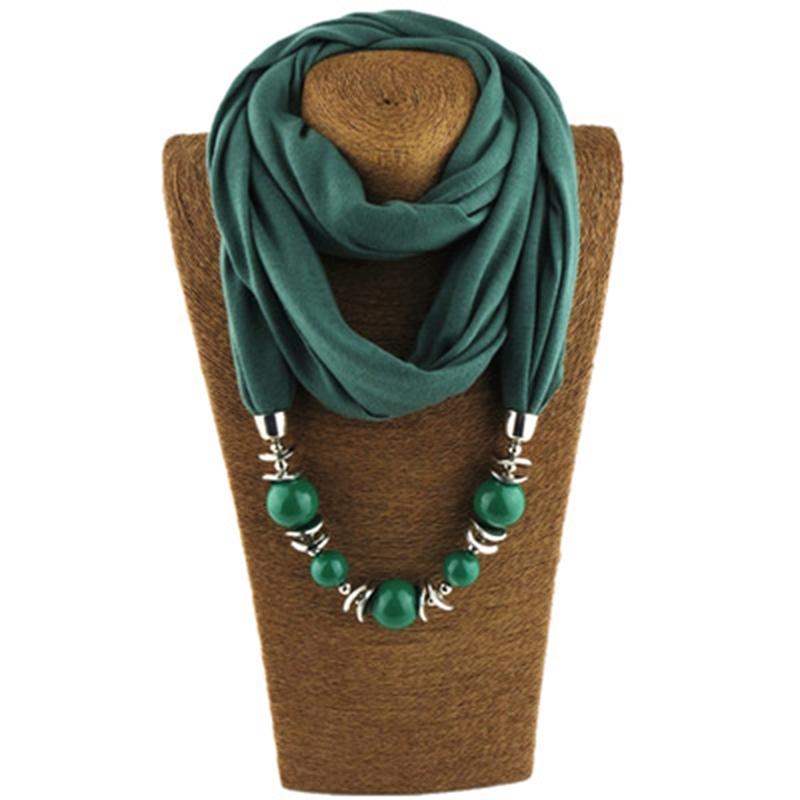 [해외]패션 에스닉 폴리 에스테르 솔리드 칼라 술 화려한 비즈 펜던트 쥬얼리 목걸이 쥬얼리 링 스카프 여성 목도리 스카프 Hot/Fashion Ethnic Polyester Solid Collar Tassel Gorgeous beads pendants jewelry N