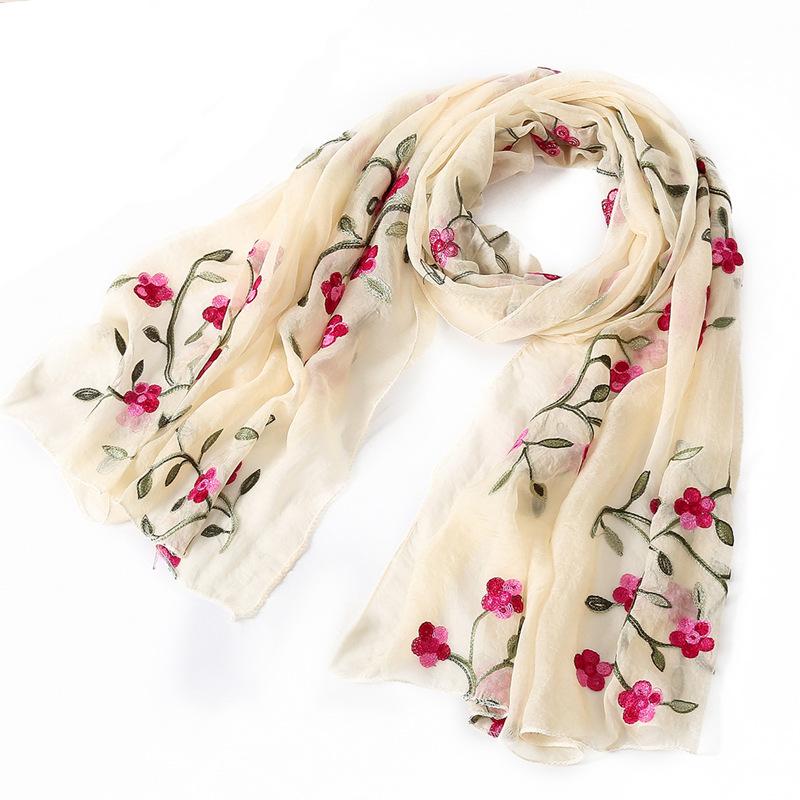 [해외]뜨거운 2018 새로운 브랜드 여성 스카프 봄 여름 실크 스카프 shawls 및 랩 숙녀 pashmina 해변 stoles hijab foulard/hot 2018 new brand women scarf spring summer silk scarves shawl