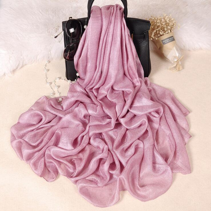 [해외]185 * 100cm 펄 리넨 실크 스카프 목도리 가을 겨울 스카프 여성 아름다운 스카프 워프 풀라즈 Femme/185*100cm Pearl Solid Linen Silk Scarf Shawl Autumn Winter Scarf Women Beautiful Sc
