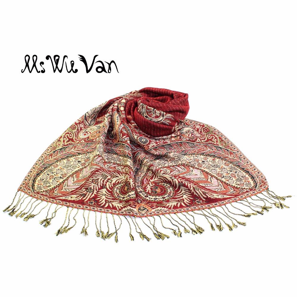 [해외]페이즐리 인도에서 인도 여성용 터키석 스카프 겨울 스카프 면화 파시미나 Echarpe Oversize Autumn Shawls Wraps 190 * 70cm/Paisley Tippet From India Turquoise Scarf Winter Scarves C