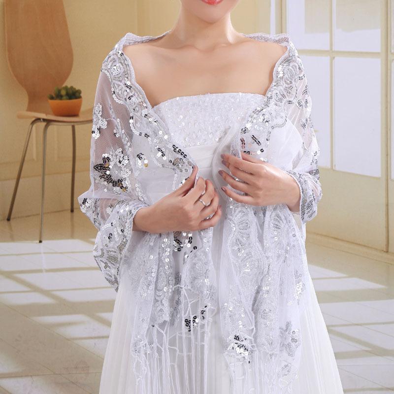 [해외]브랜드 2017 봄 여름 여성 스카프 패션 결혼 흰색 레이스 실크 스카프 shawls pashmina bandana 여성 foulard pareo beach/brand 2017 spring summer women scarf fashion marry white l
