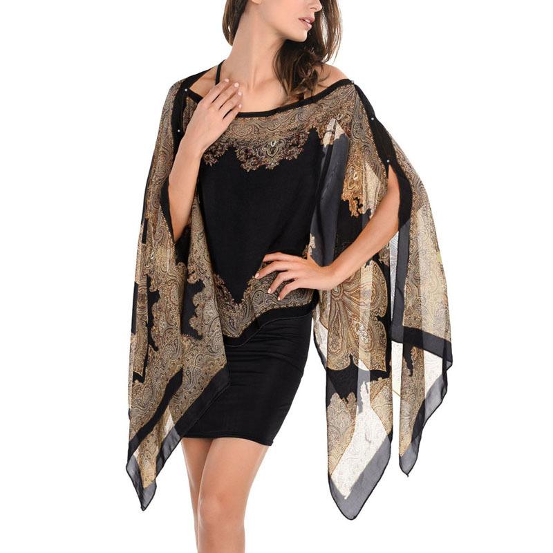 [해외]여성 시폰 목도리 Beachwear 봄 새로운 2017 패션 여성 실크 스카프 쉬폰 스카프 Shawls/Women Chiffon Shawl Beachwear Spring New 2017 Fashion Women Silk Scarf Chiffon Scarf Sha
