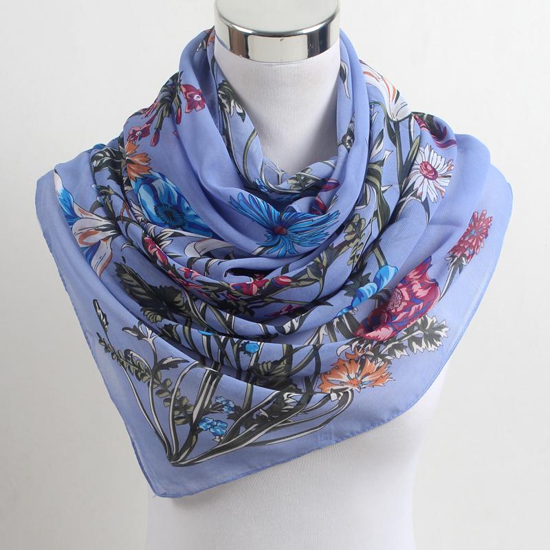 [해외]여성 봄 스카프 패션 쉬폰 폴리 에스터 실크 스카프 꽃 핫 세일 반다나 인쇄 얇은 목도리 스카프 bufandas FZ054/Women Spring Scarf Fashion Chiffon Polyester Silk Scarf Flowers Hot Sell Band