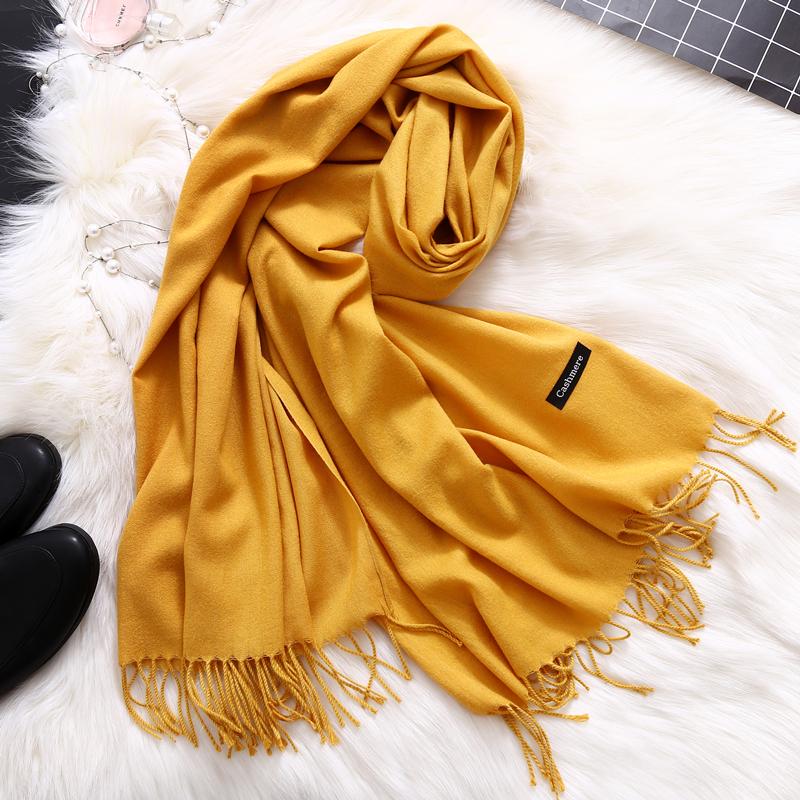 [해외]패션 2018 여성을새로운 봄 겨울 목도리 shawls 및 랩 숙녀 pashmina 고체 긴 캐시미어 머리 스카프 hijab stoles/Fashion 2018 new spring winter scarves for women shawls and wraps lad