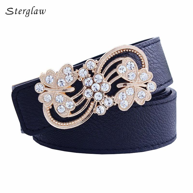 [해외]무료 캐주얼 벨트 2018 패션 레저 중공 꽃 벨트 버클 3.7 와이드 벨트 부드러운 cintos femininos Y216/Free shipping  casual belts for women 2018 fashion leisure hollow flower bel