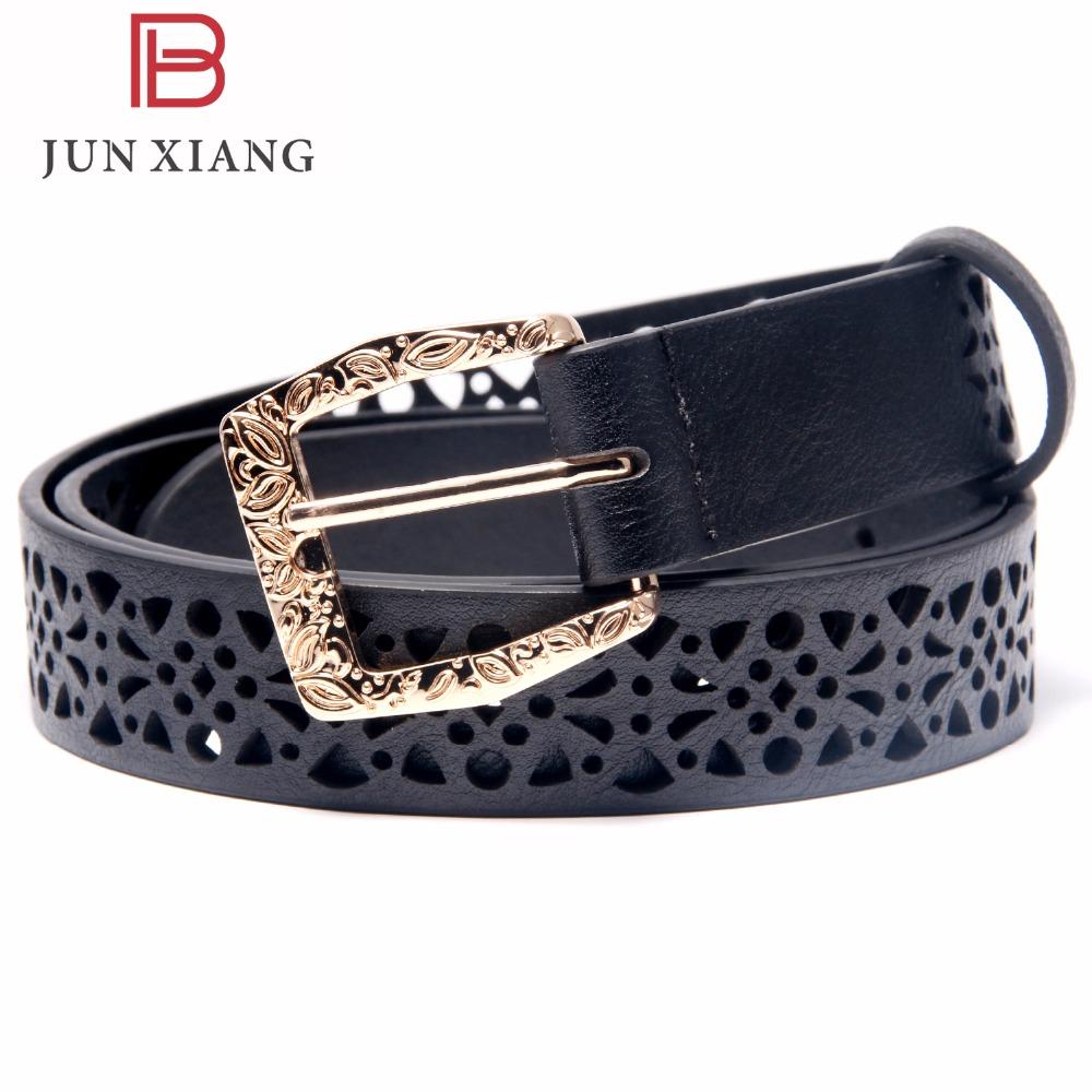 [해외]JUN XIANG 2017 여성 패턴 중공 버클 얇은 피부 와이드 벨트 여성 & s 스트랩 드레스 벨트 블랙 허리띠에 대한 새로운 패션 벨트/JUN XIANG 2017 New Fashion Belt for Women Pattern Hollow Buckle