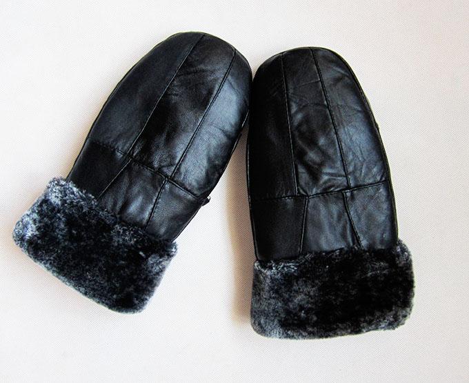 [해외]여자가 양모 플러스 벨벳 장갑을 두껍게 여성 겨울 고체 따뜻한 장갑 여성 두꺼운 가죽 포인트 손가락 벙어리 장갑의 D35/Woman autumn sheepskin plus velvet thicken gloves female winter solid warm glo
