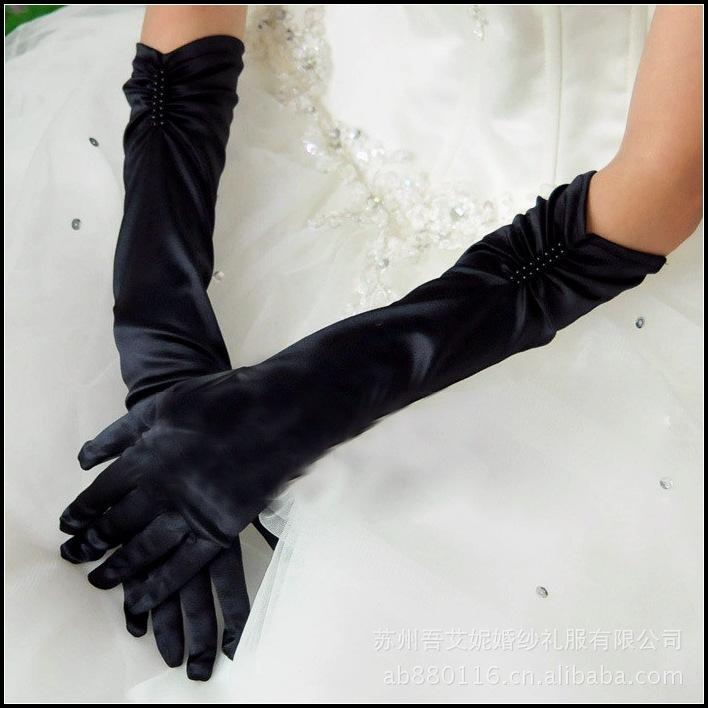 [해외]38cm 여성 숙녀 댄스 성능 섹시한 긴 검은 손가락 장갑 장갑 패션 파티 파티 오페라 장갑/38cm Women lady dancing performance sexy long black finger gloves mittens fashion evening part