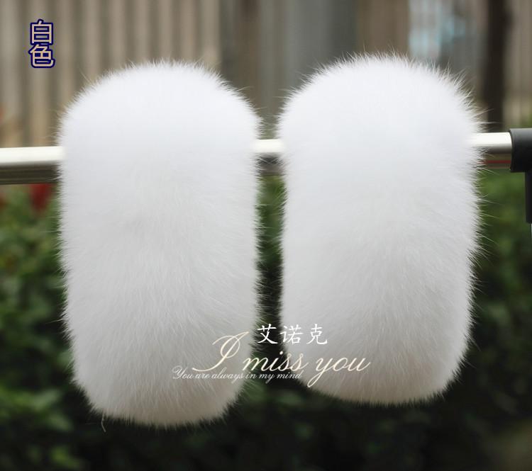 [해외]커프스 손목 모피 따뜻한 모피 여우 모피 가죽 장갑/Quality fox fur warm lady leather gloves fur cuffs wrist